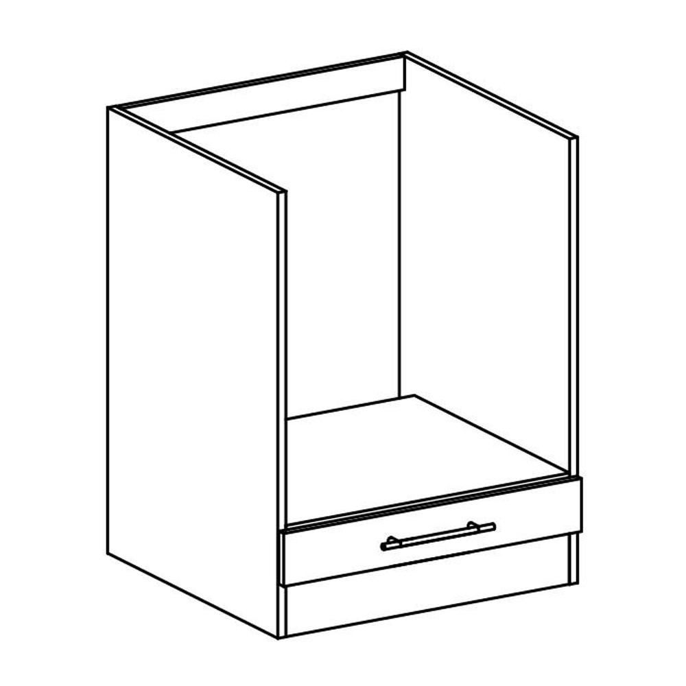Dolní skříňka, dub sonoma / bílá, FABIANA S - 60KU