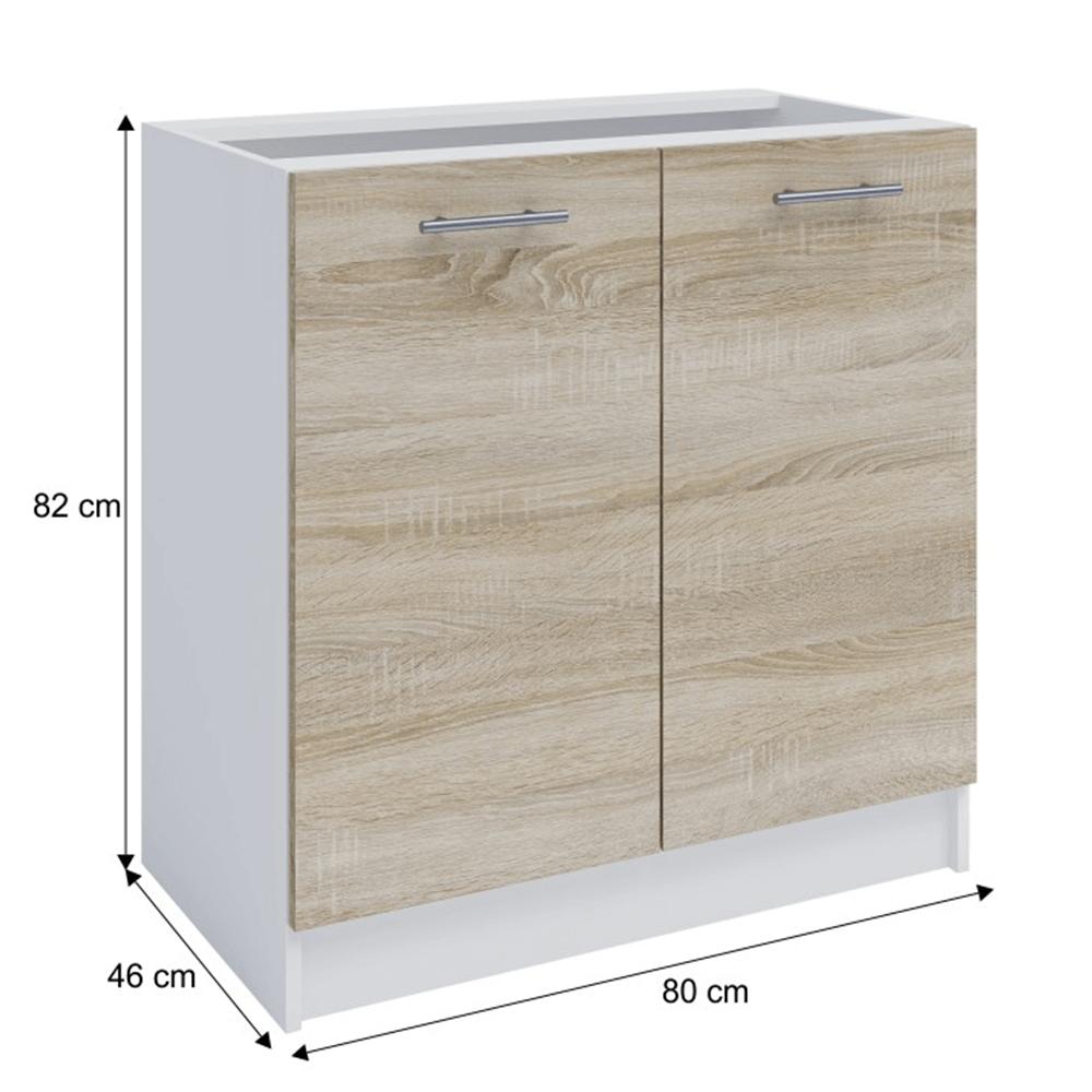 Dolní skříňka, dub sonoma / bílá, FABIANA S - 80, TEMPO KONDELA