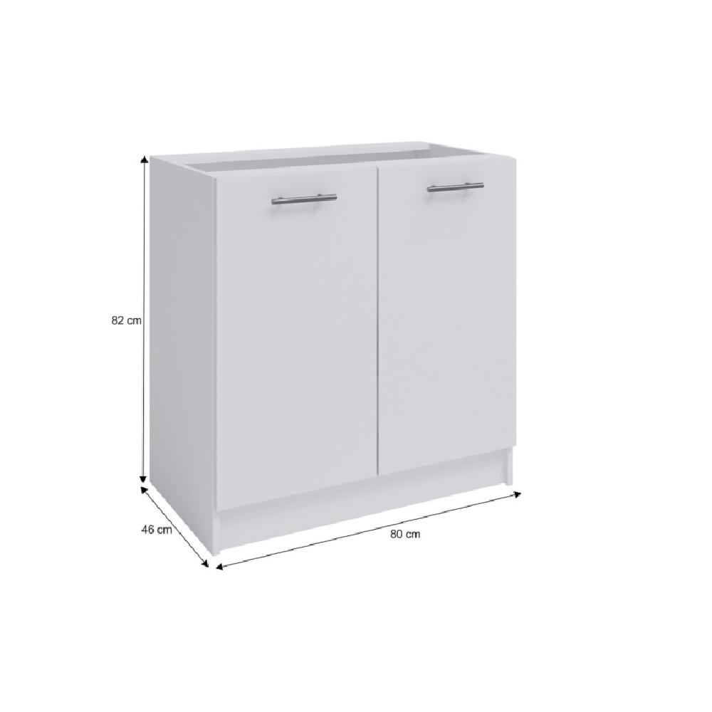 Spodní dvoudveřová skříňka, bílá, FABIANA S80, TEMPO KONDELA