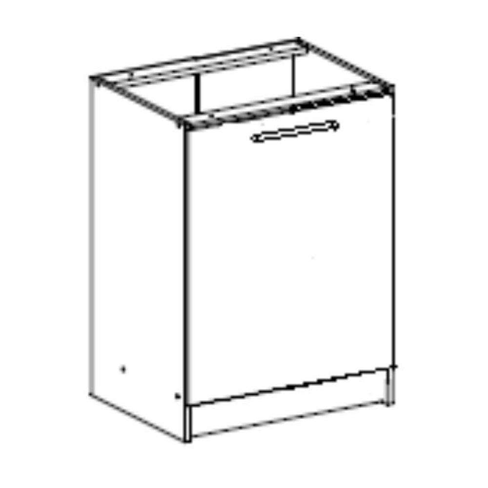Dolní skříňka, bílá, FABIANA S - 60