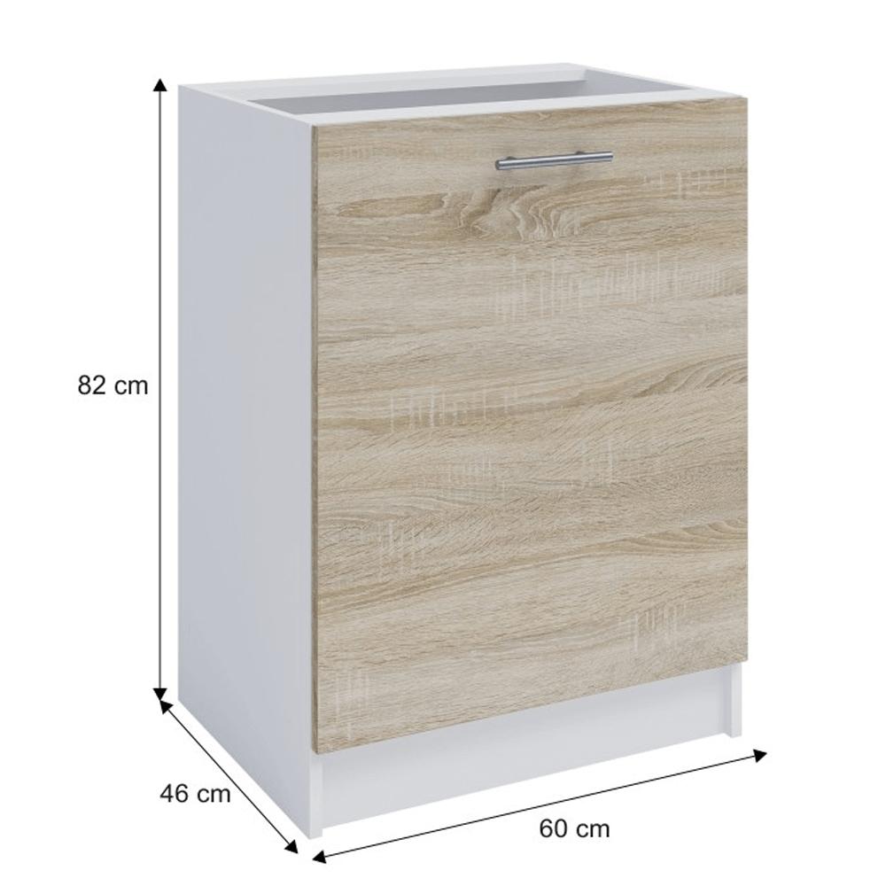 Dolní skříňka, dub sonoma / bílá, FABIANA S - 60, TEMPO KONDELA
