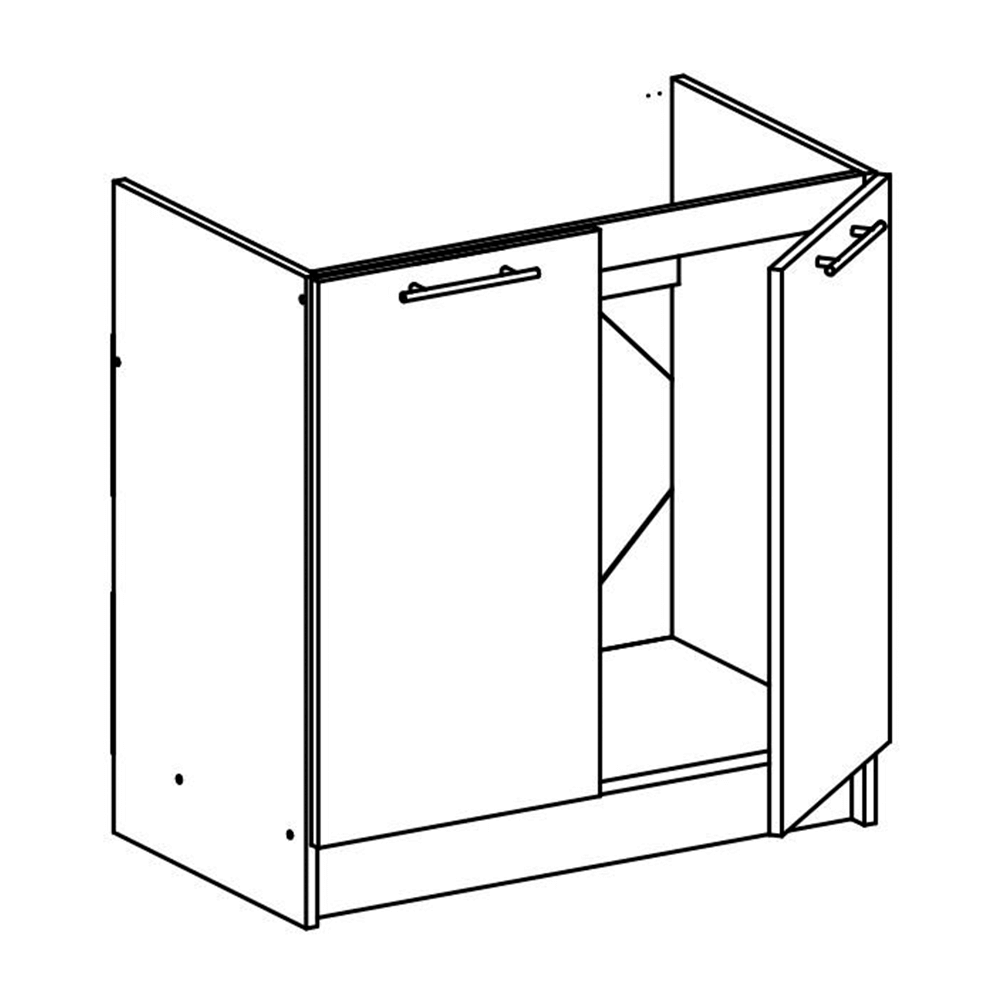 Dolní skříňka, bílá, FABIANA S - 80ZL, TEMPO KONDELA
