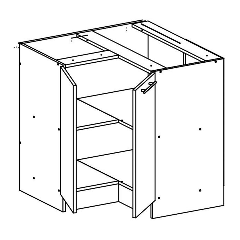 Dolní rohová skříňka, dub sonoma / bílá, FABIANA S - 90N, TEMPO KONDELA
