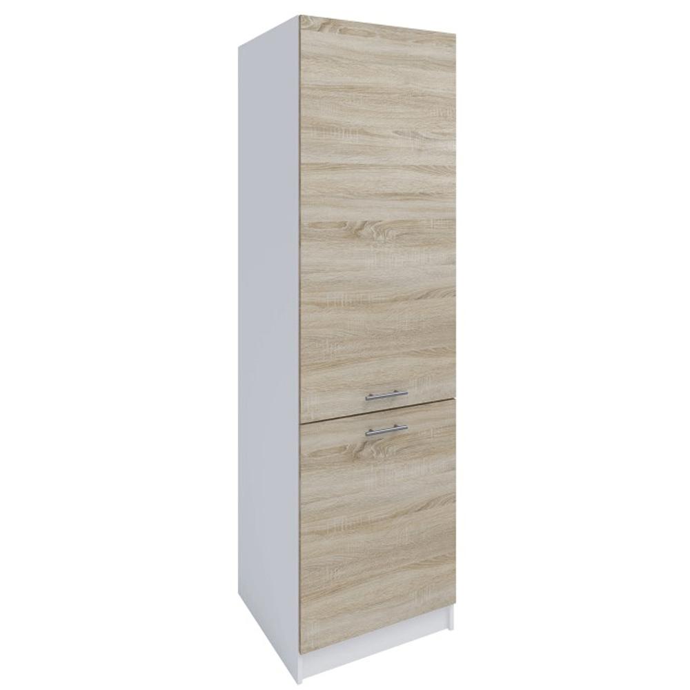 Potravinová skříňka, dub sonoma / bílá, levá, FABIANA S - 60/210