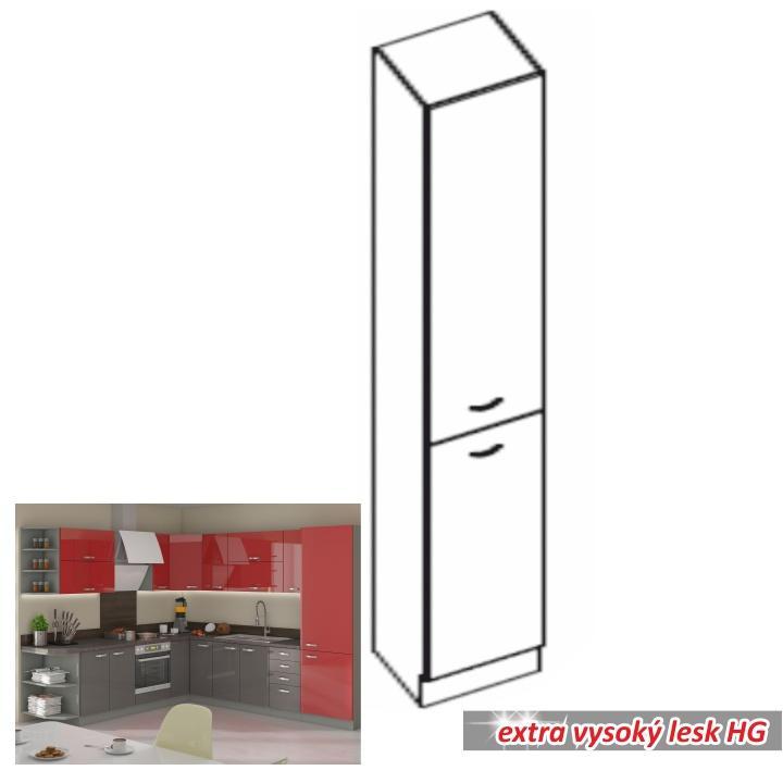 Alsó szekrény magas, krémszínű magas fényű fehér, PRADO 40 DK-210 2F