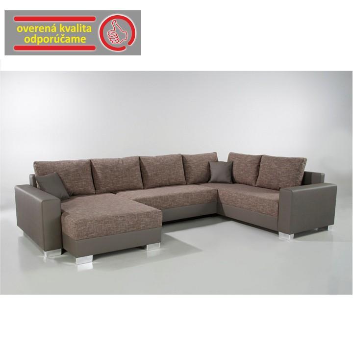 Rohová sedacia súprava, ekokoža sivá 440/09+sivohnedý melír 434/18, ABBY