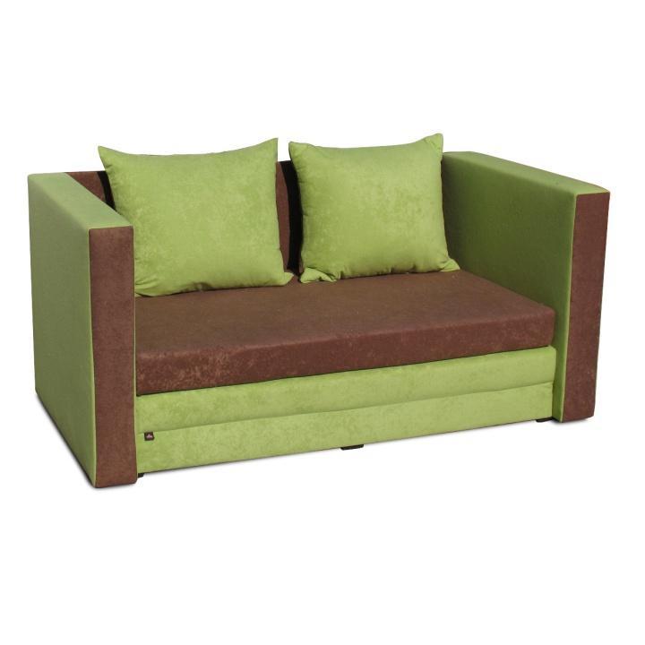 Rozkladacia pohovka, hnedá/zelená, KATARINA NEW