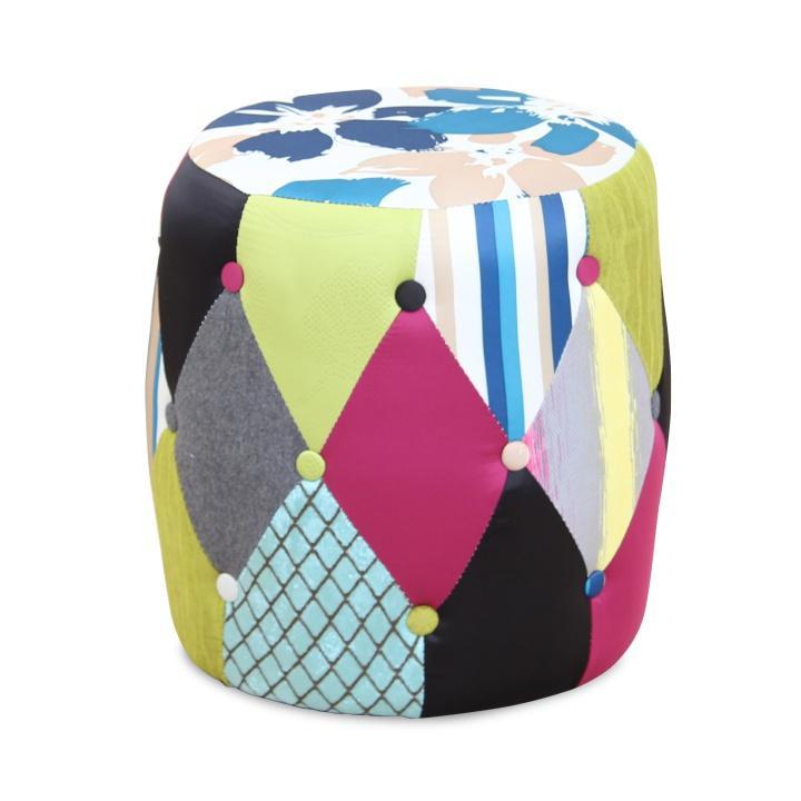 Puff, mintás szövet/patchwork, DEMA