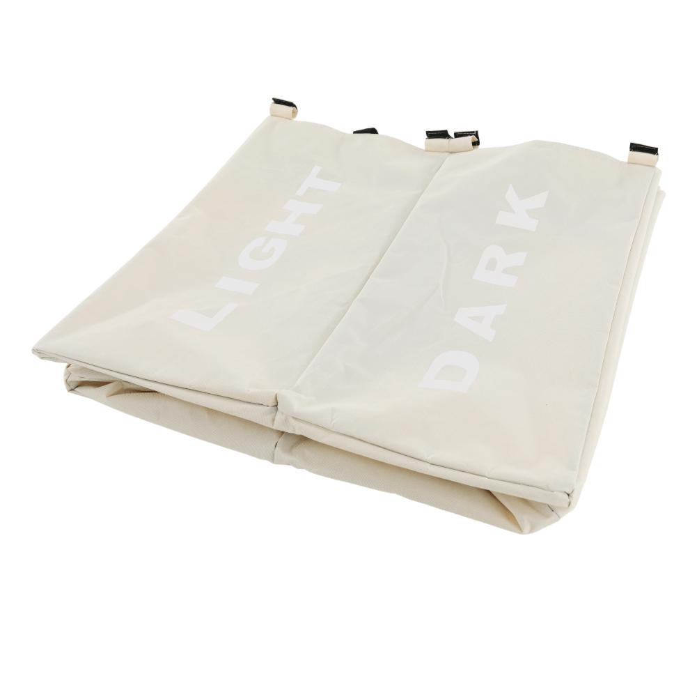 Látkový koš na prádlo, šedobéžová, LAUNDRY TYP 2, TEMPO KONDELA