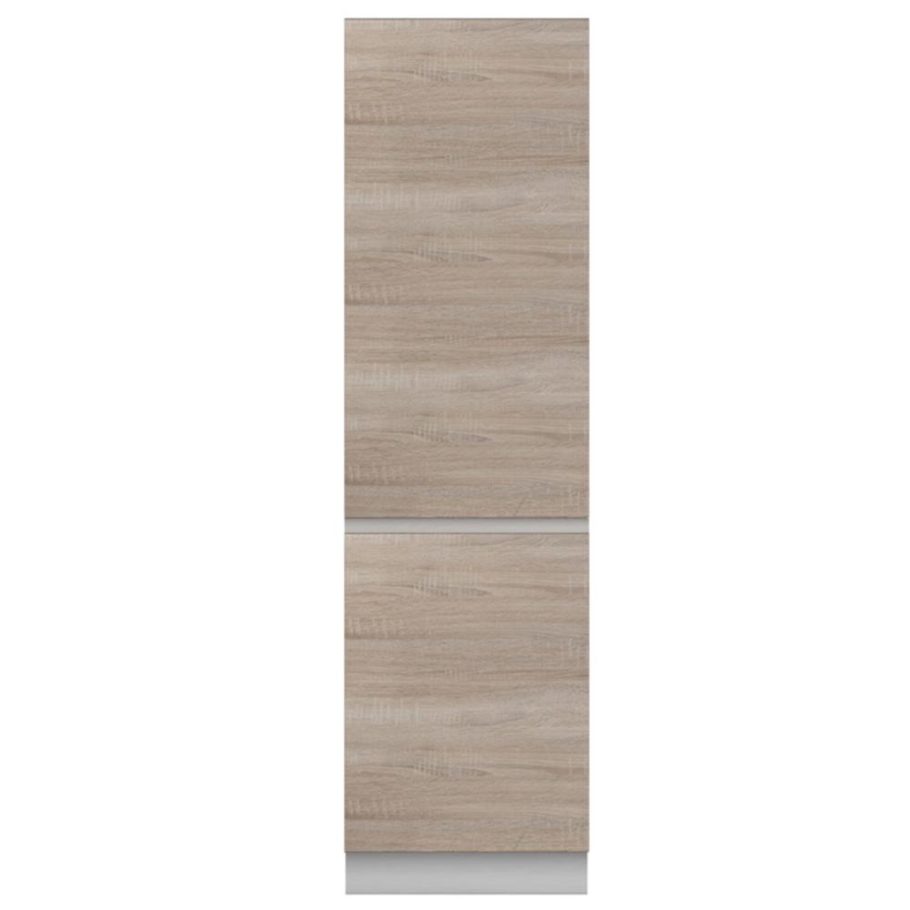 Potravinová skrinka D 60, dub sonoma/biela, LINE