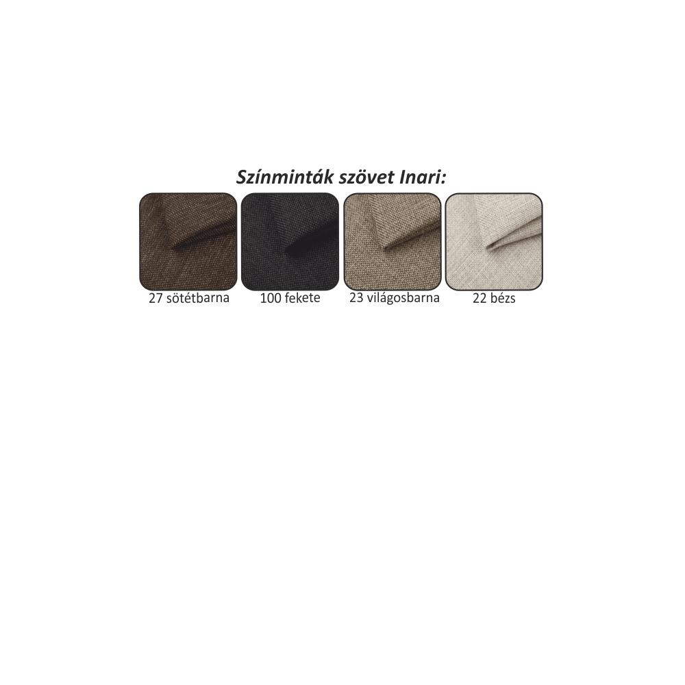 Univerzális (B+J) sarokülőgarnitúra ágyfunkcióval és ágyneműtartóval állítható háttámlákal,sötétszürke Inari 94 szövet/91 világosszürke, CHRIS