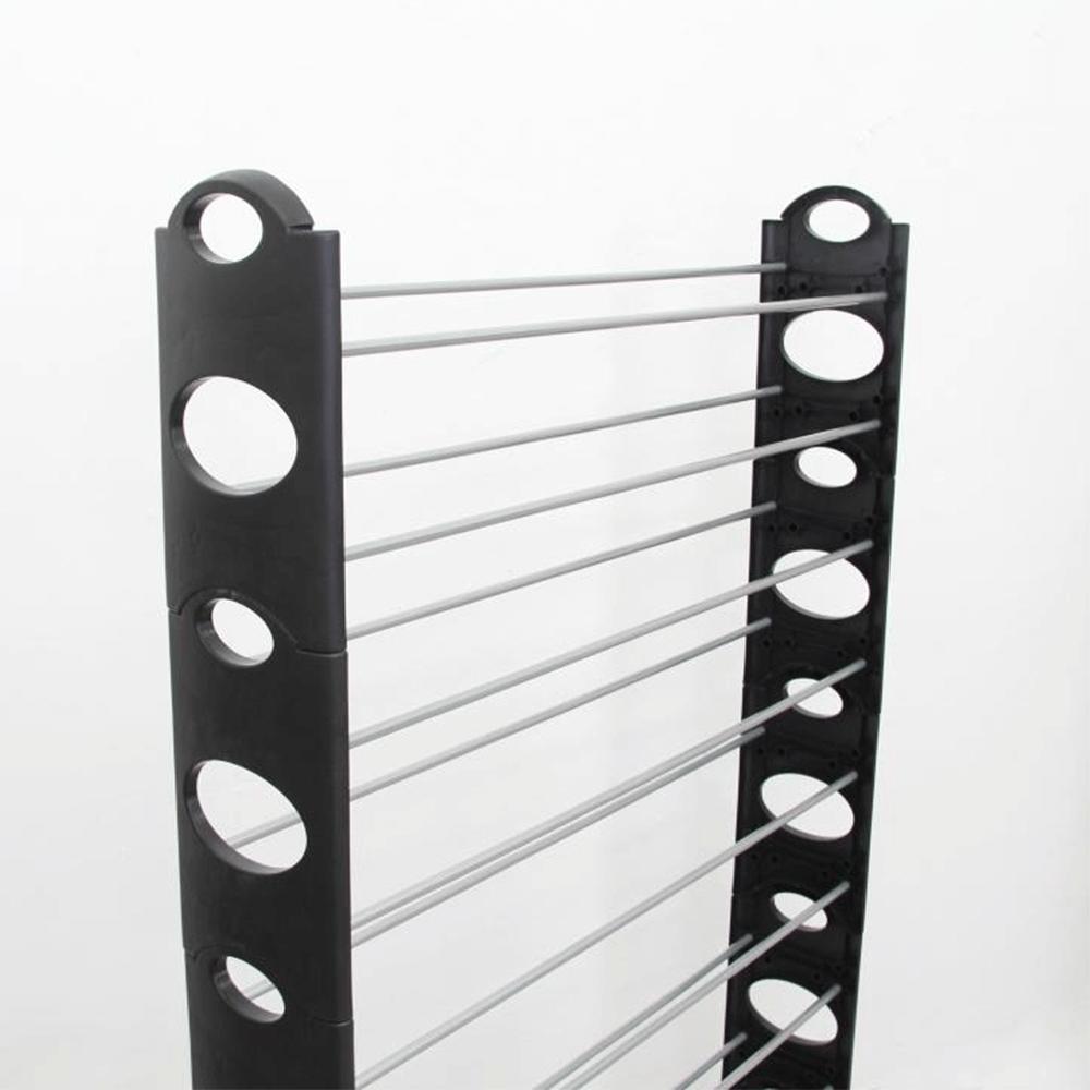 botník, plast + kov, šedá / černá, Botis TYP 4, TEMPO KONDELA