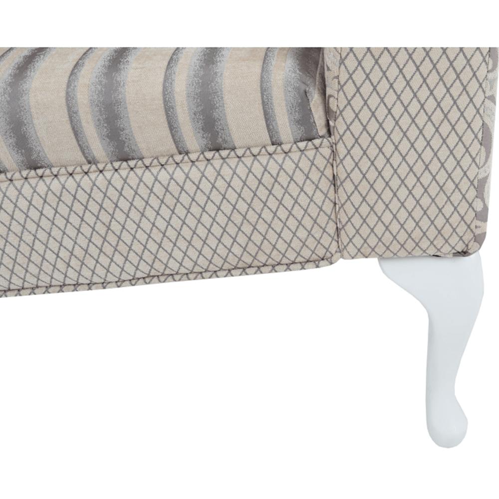 Pohovka, krémově-šedá, Fabricio
