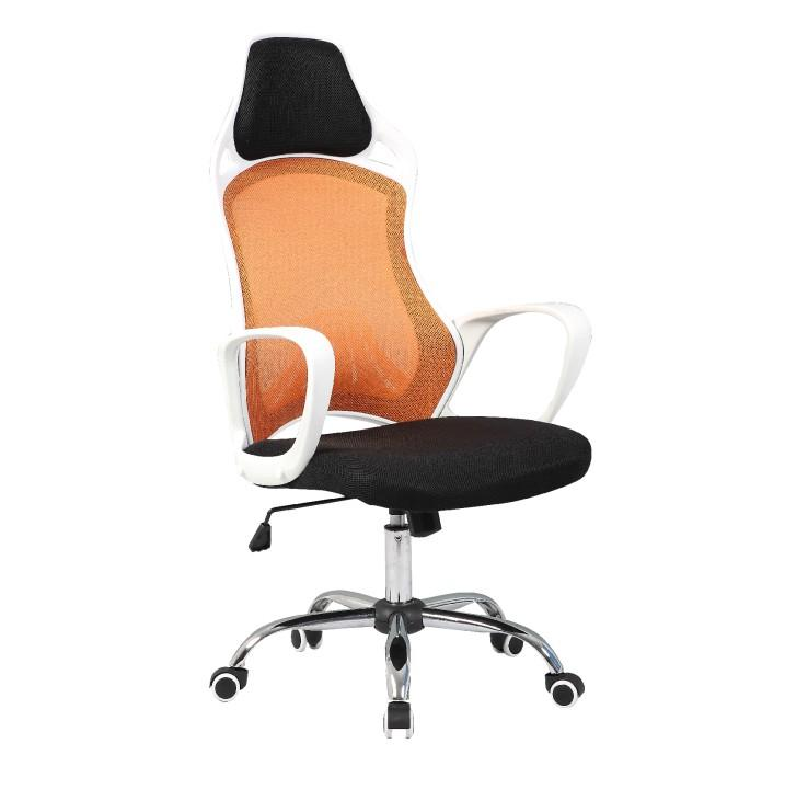 Kancelárske kreslo, oranžová/čierna/biela, ARIO