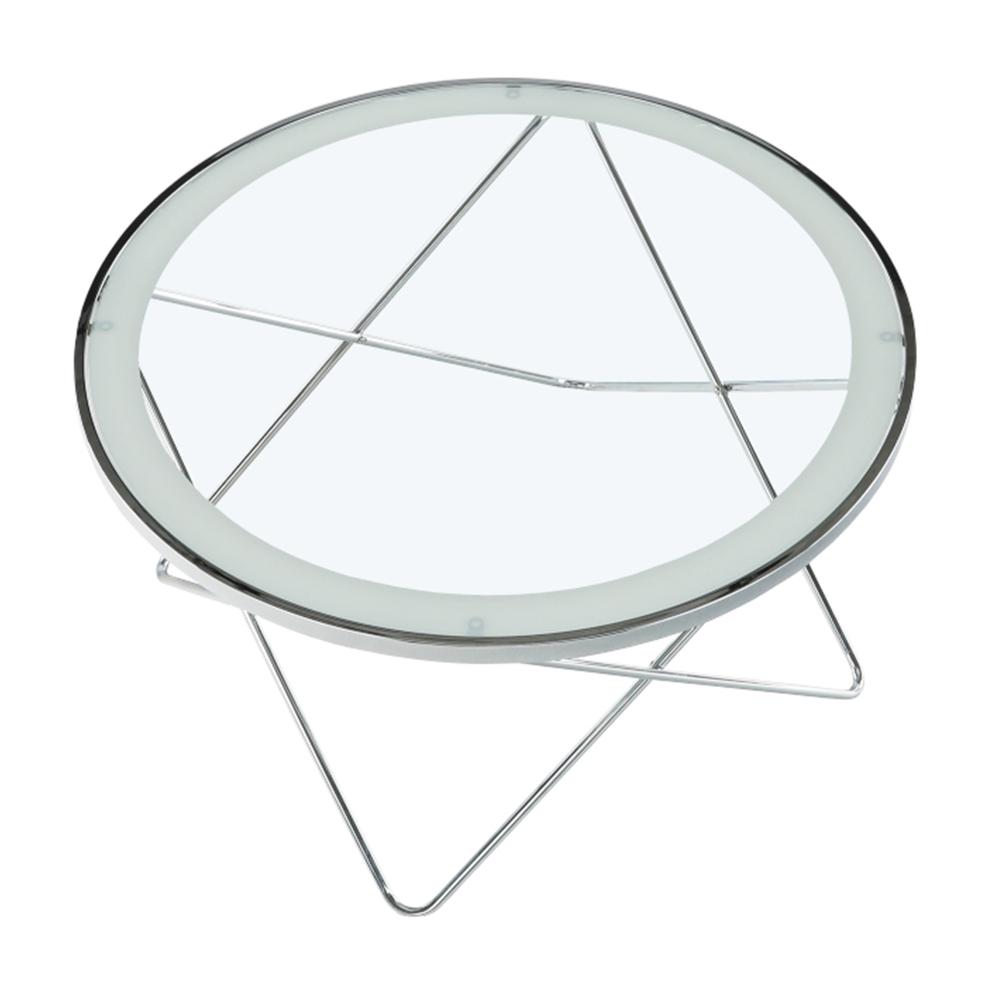Konferenční stolek, chrom / čiré sklo, LEONEL, TEMPO KONDELA