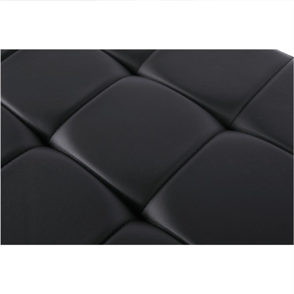 Lavice, černá / chromovaná, BRAND