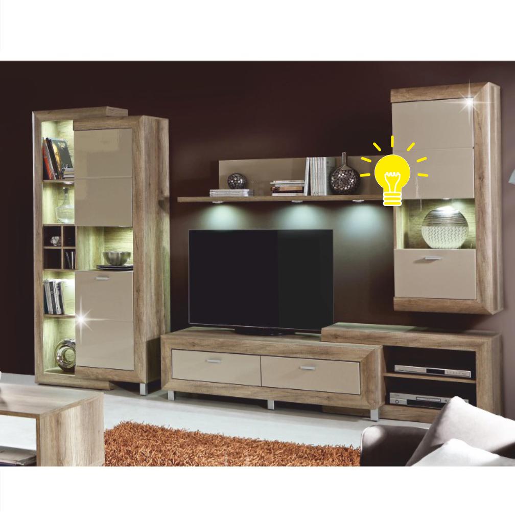 LED világítás, fali vitrines szekrényhez, GATIK 111