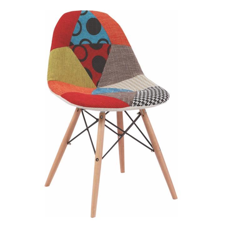 Modern székek patchwork stílusba, lábak - bükk + textil - mintás, CANDIE