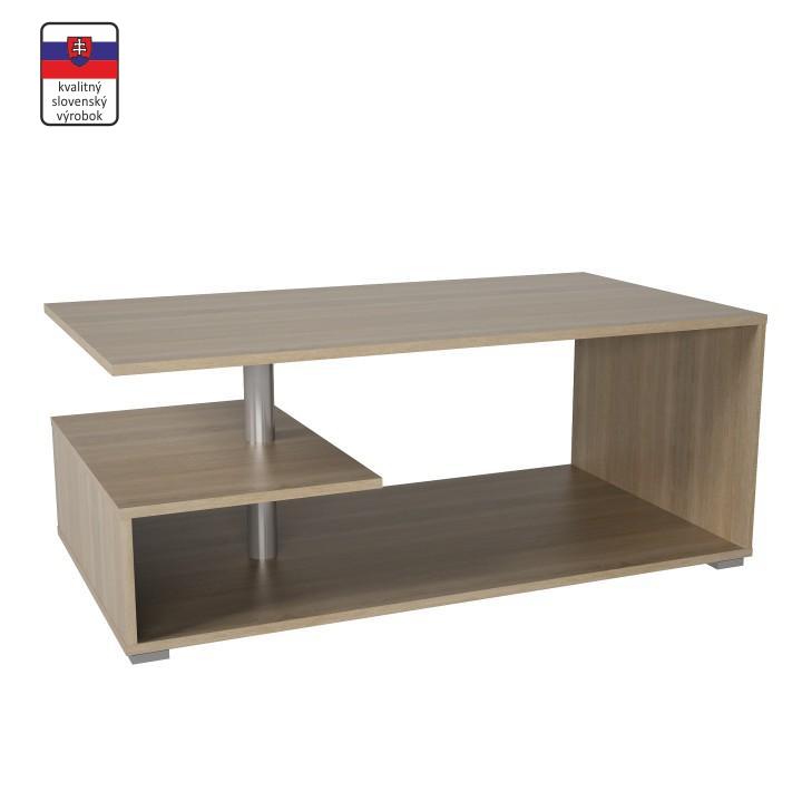Konferenčný stolík na kolieskach, dub sonoma, DORISA