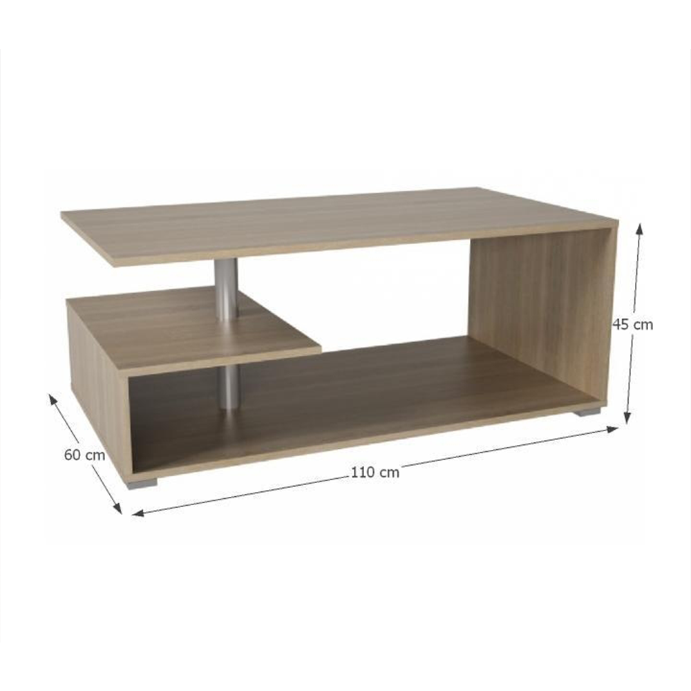 Konferenční stolek, dub sonoma, DORISA, TEMPO KONDELA