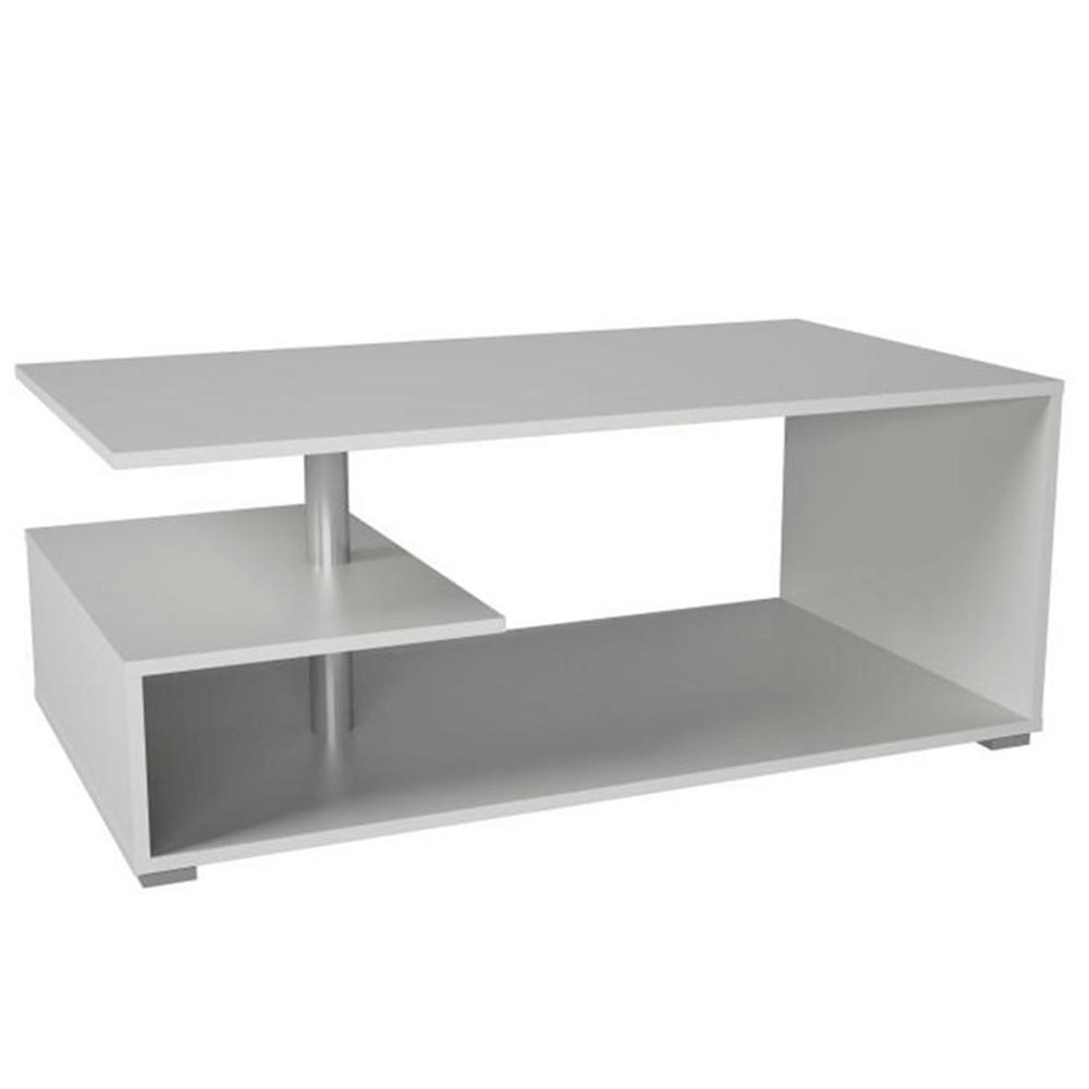 Konferenčný stolík na kolieskach, biela, DORISA