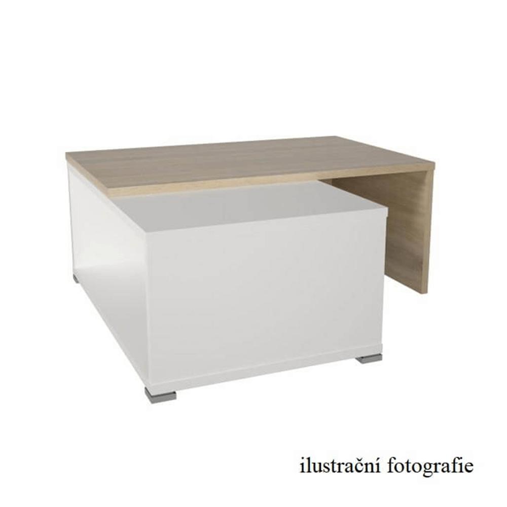 Konferenční rozkládací stolek, černá / bílá, DRON, TEMPO KONDELA