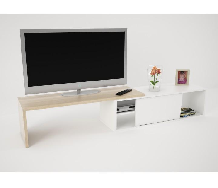 TV stolík, dub sonoma/biela, RODAS