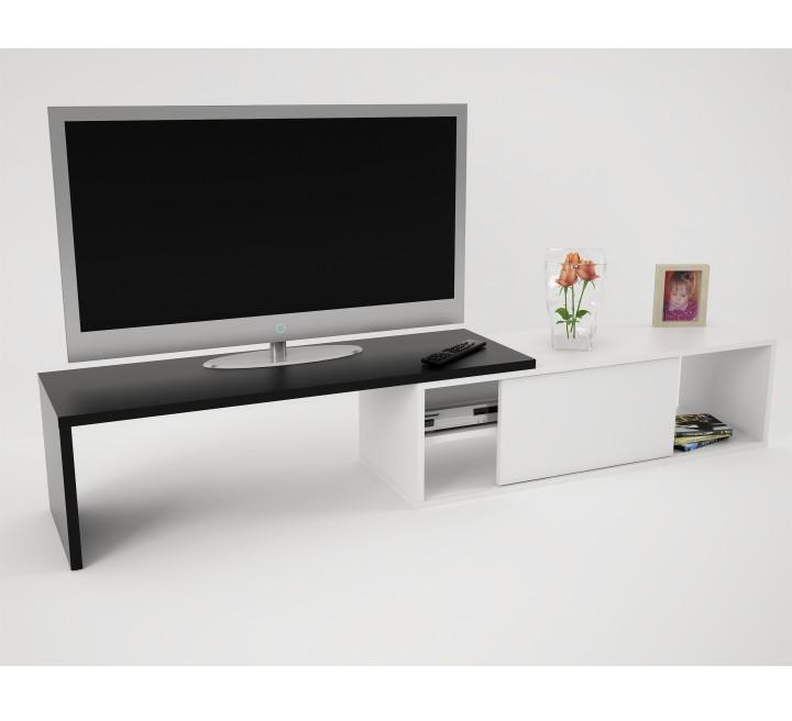 TV stolík, čierna/biela, RODAS