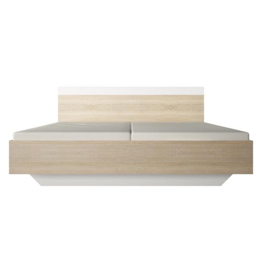 Manželská postel, dub sonoma / bílá, 180x200, GABRIELA, TEMPO KONDELA