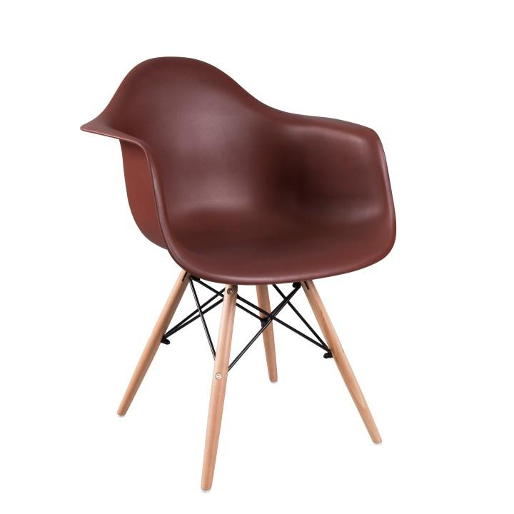 Fotel, bükkfa + sötétbarna, DAMEN