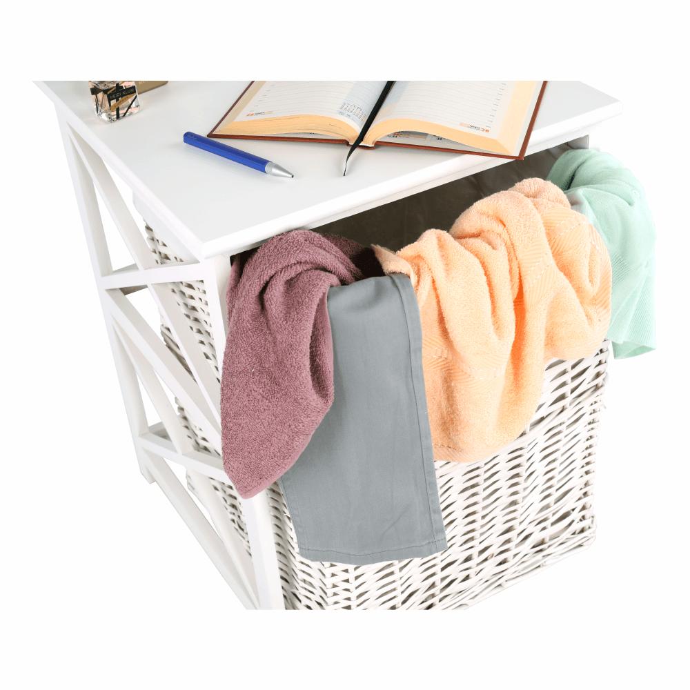 Koš na prádlo, bílá, Rafaello, TEMPO KONDELA