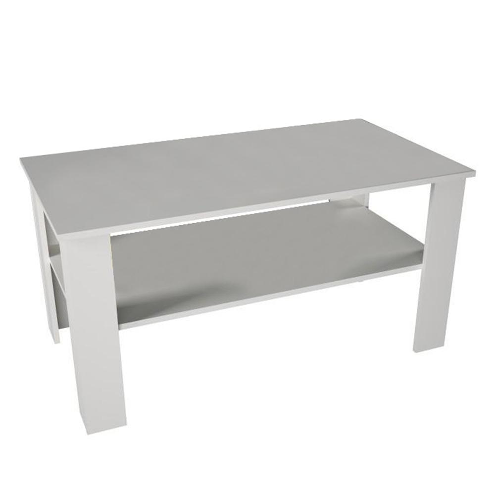 Konferenčný stolík, biela, GAUDI