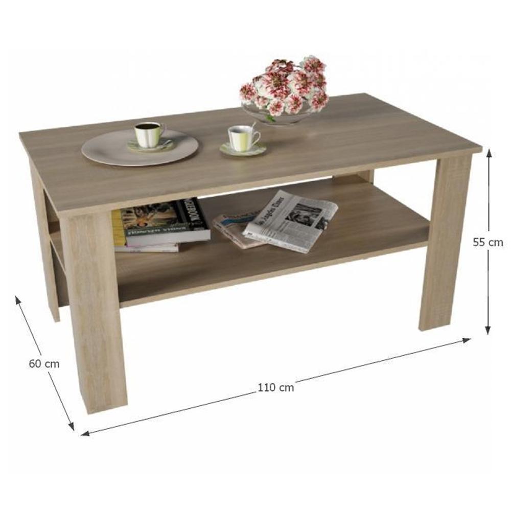 Konferenční stolek, dub sonoma, GAUDI, TEMPO KONDELA