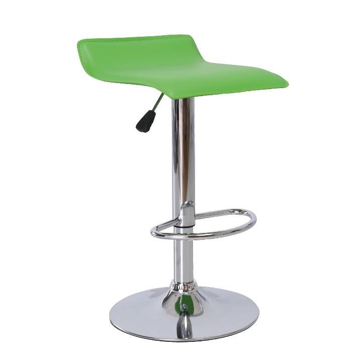 Barová stolička, ekokoža zelená/chróm, LARIA