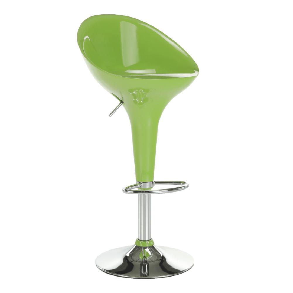 Barová stolička, zelená/chróm, ALBA NOVA