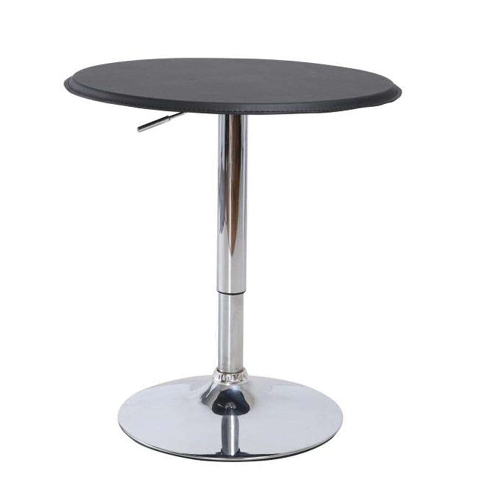 Bárasztal állítható magassággal, fekete, BRANY