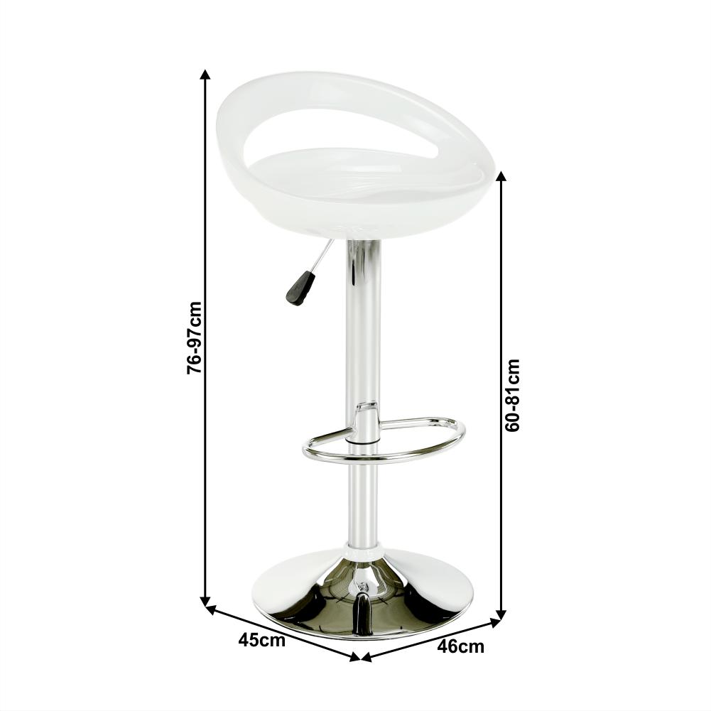 Barová židle, bílá / chrom, Dongo NOVE, TEMPO KONDELA