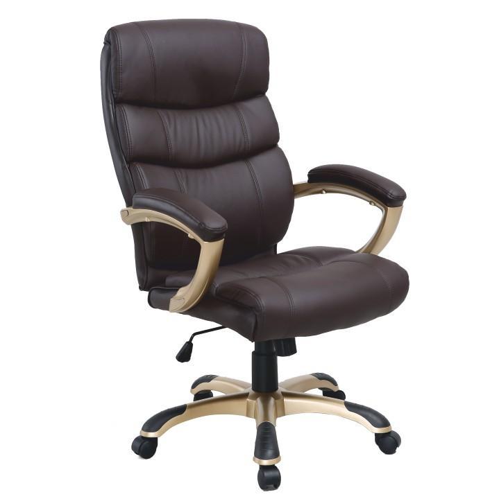 Kancelárske kreslo, hnedá ekokoža, GORDON