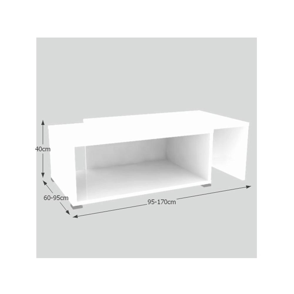 Konferenční rozkládací stolek, bílá, DRON, TEMPO KONDELA