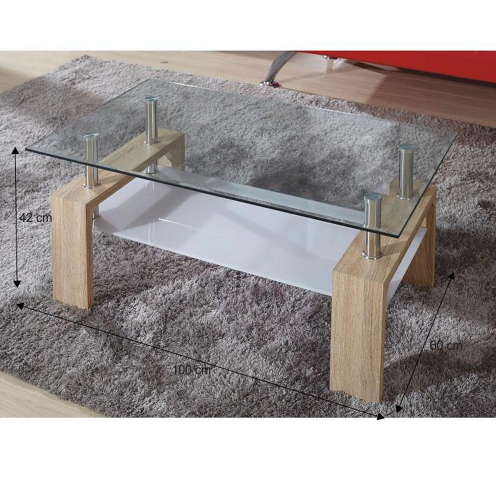 Konferenční stolek, dub sonoma/sklo, LIBOR NEW, TEMPO KONDELA