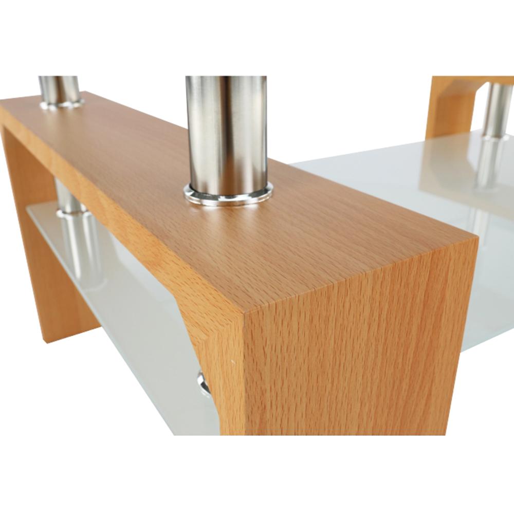 Konferenční stolek, buk / sklo, LIBOR NEW, TEMPO KONDELA
