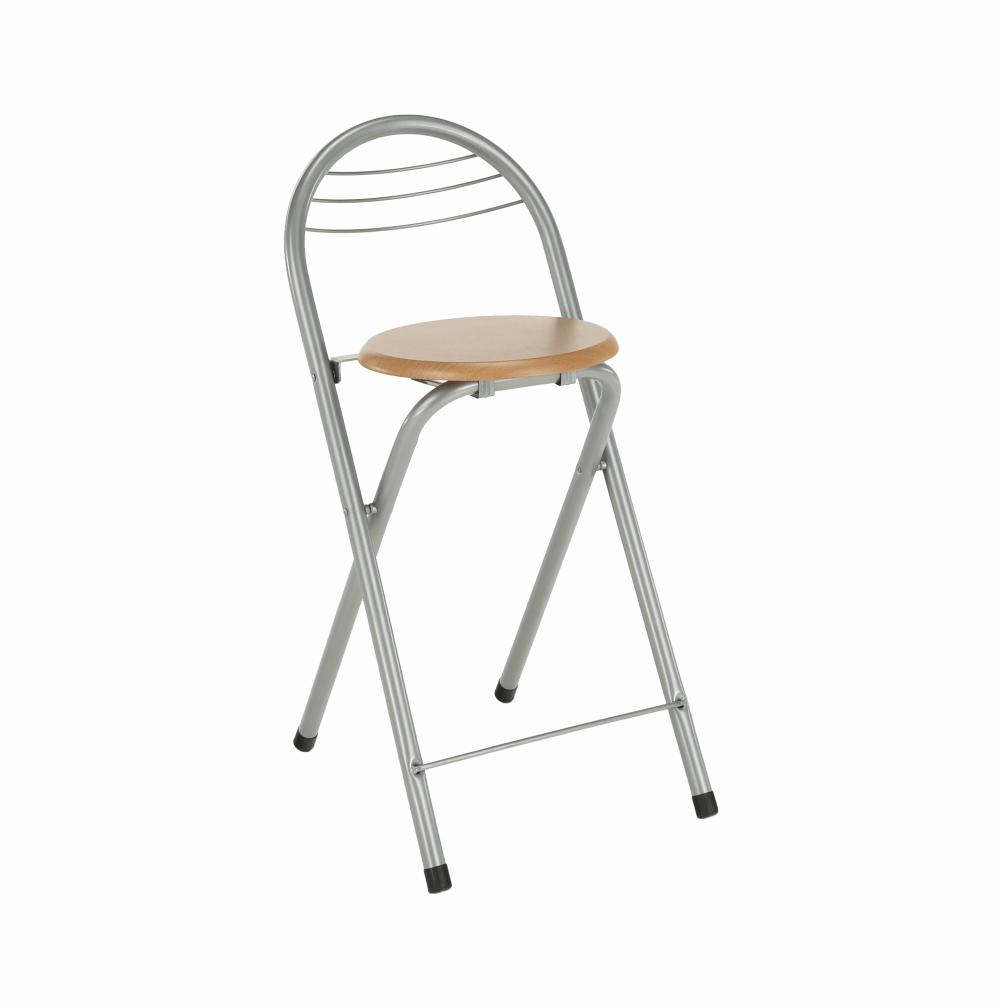 Barová židle, buk/chrom, BOXER, TEMPO KONDELA