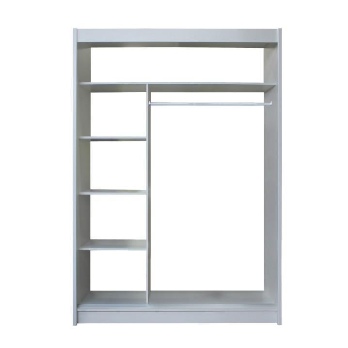 Skříň s posuvnými dveřmi, dub sonoma / šedá, Merina 150, TEMPO KONDELA