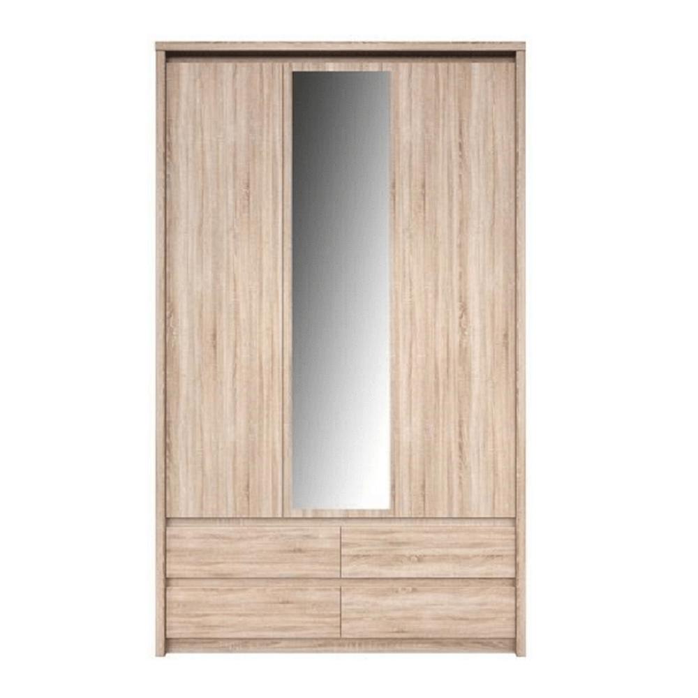 Skříň se zrcadlem 3D4S, Dub sonoma, NORTY TYP 1, TEMPO KONDELA