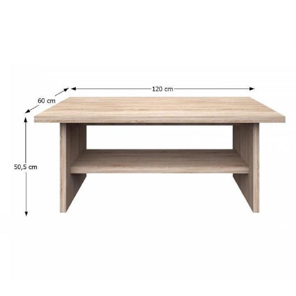 Konferenční stolek 120, dub sonoma, NORTY TYP 15, TEMPO KONDELA