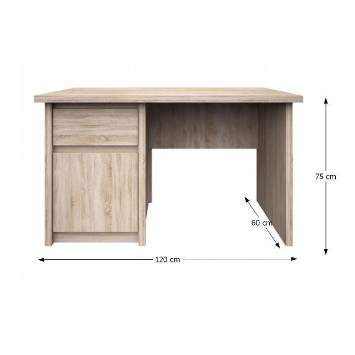 PC asztal,DTD laminált, sonoma tölgyfa, NORTY