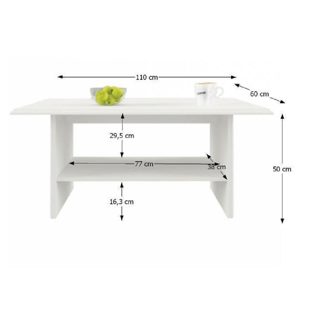 Konferenční stolek 110, woodline krém, TIFFY 12