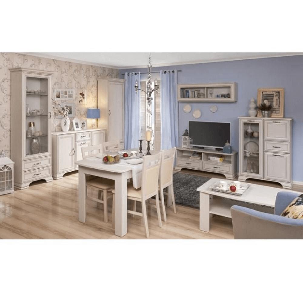 Masă de bucătărie extensibilă OLIVIA, PAL melaminat, woodline crem, TIFFY 15