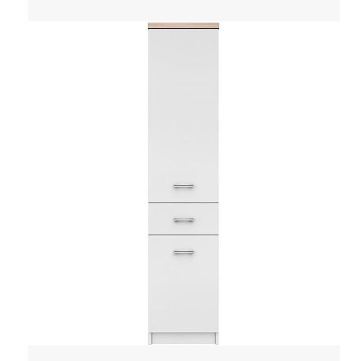 Polcos szekrény 2d1s,DTD laminált, fehér + sonoma tölgyfa, TOPTY