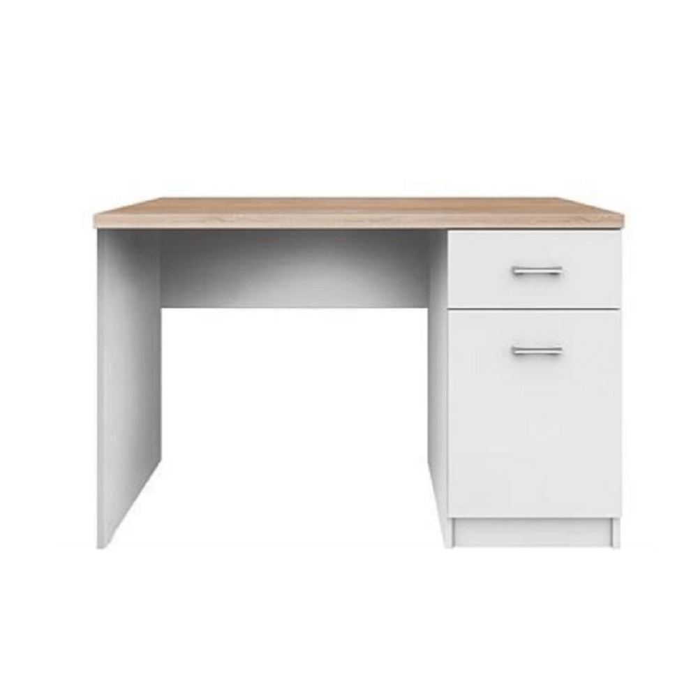 PC stůl 1D1S, bílá / dub sonoma, TOPTY TYP 09, TEMPO KONDELA